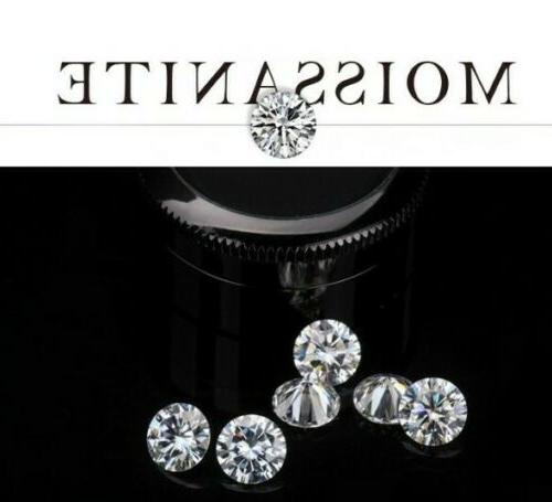 Moissanite Diamond solid While Gold Certificate