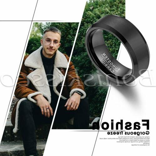 Brushed Tungsten Engagement Wedding Band For Men's