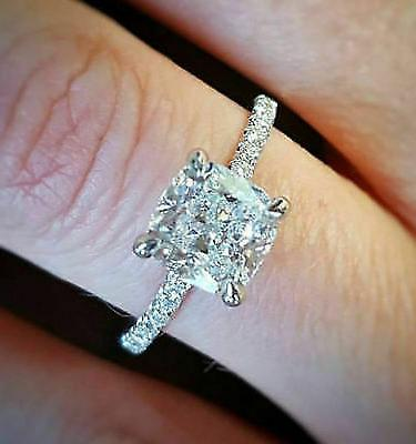 Certified 3.55 Cushion Diamond Engagement Ring in Gold