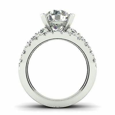 Certified Round Engagement Solid White Gold