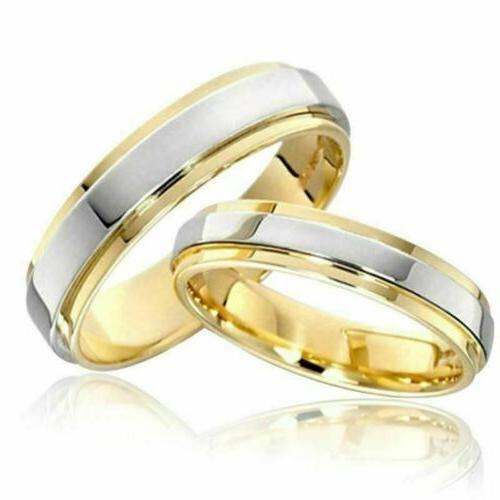Couple Rings 316L Stainless Steel Gold Plating Engagement