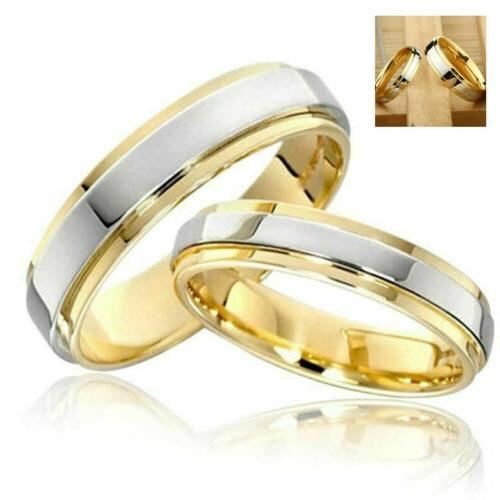 couple rings 316l stainless steel jewelry gold