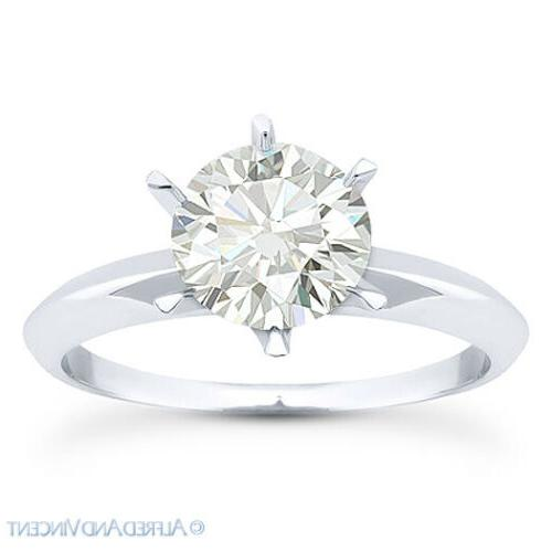 Forever Round Moissanite Solitaire Ring