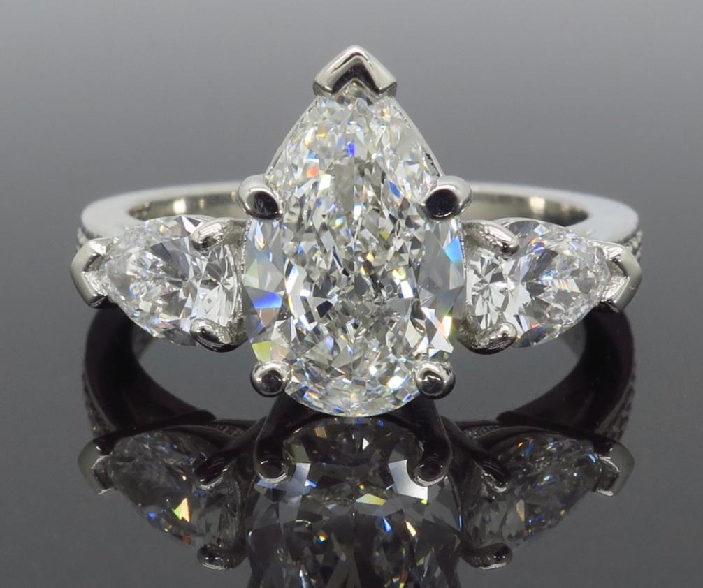 gia colorless vs1 3 21ctw pear cut