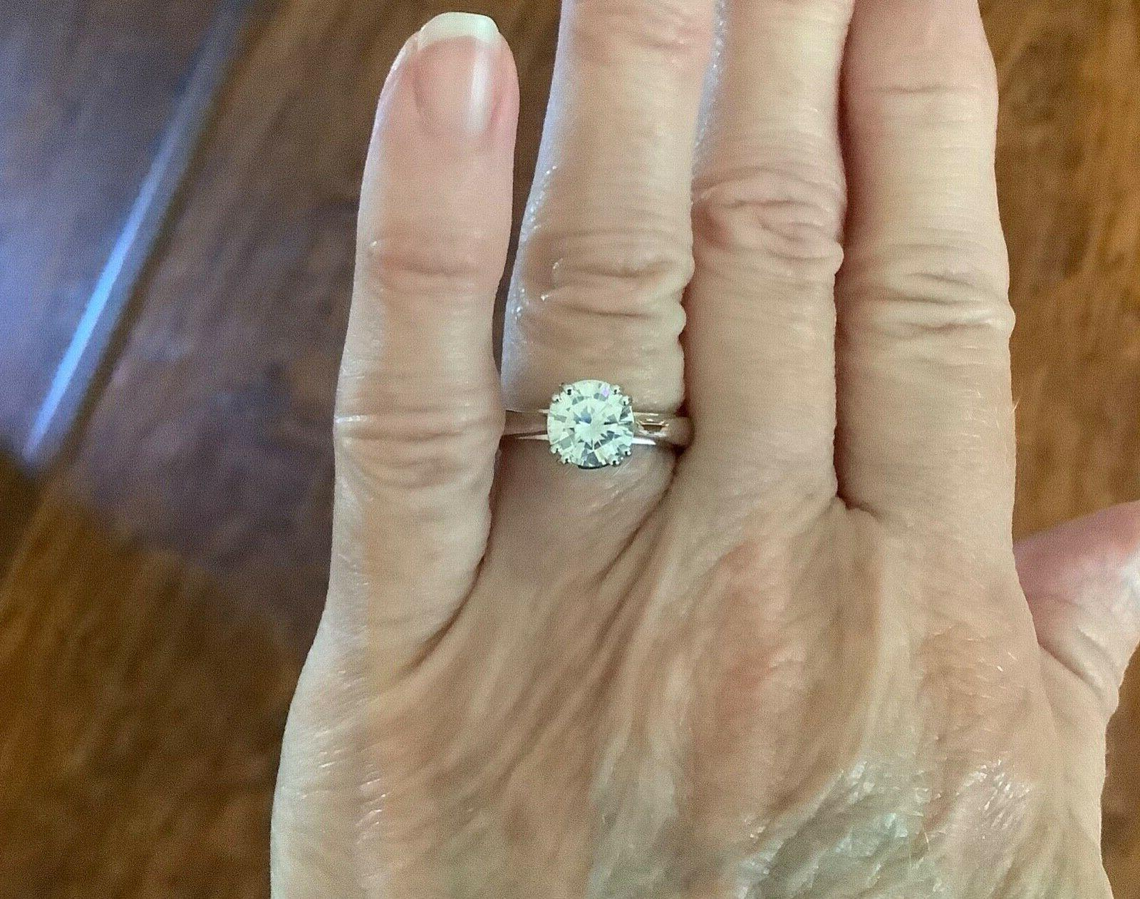 New!Gorgeous Charles Forever One Ring DEF. 2cts.DEW
