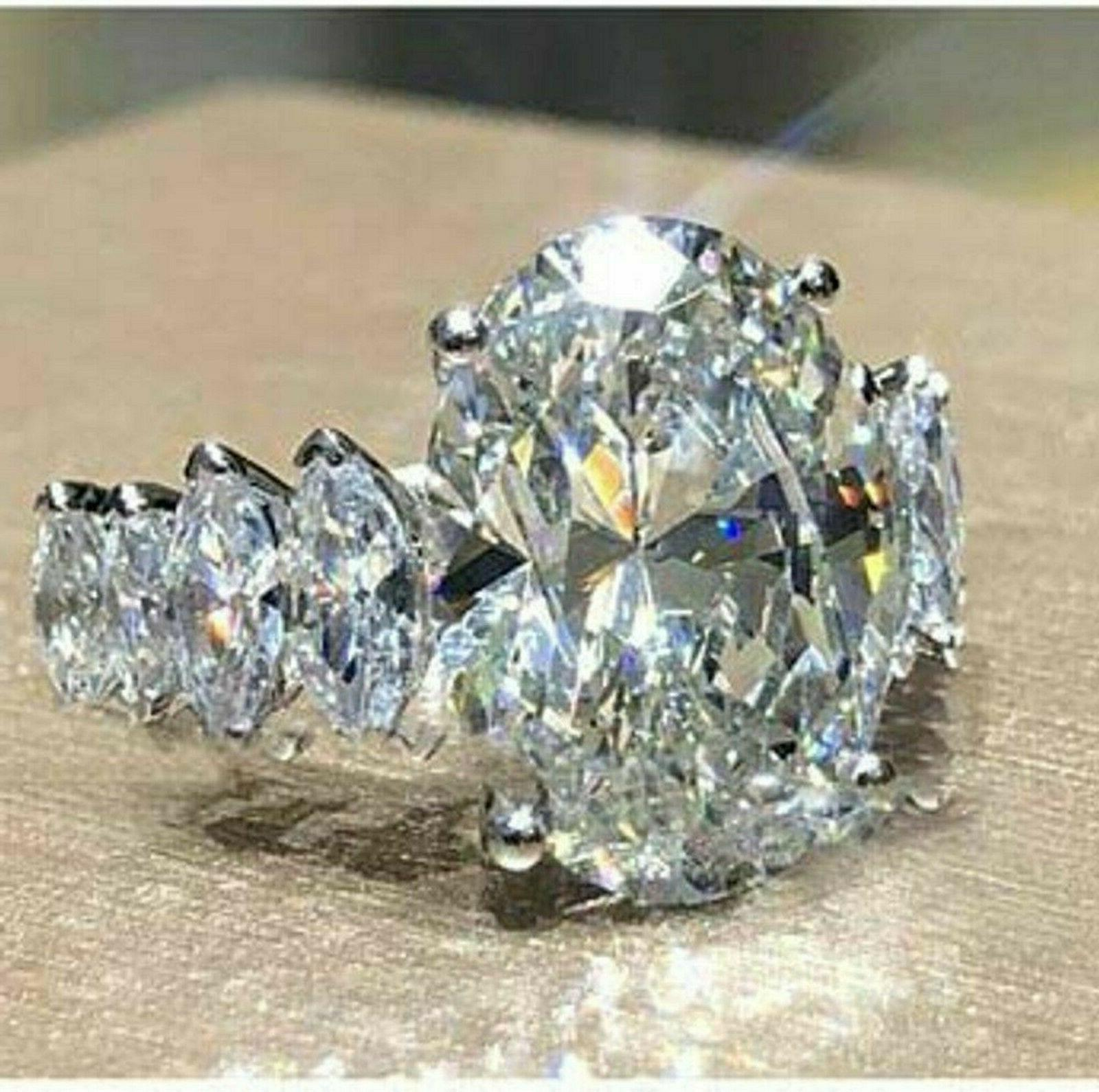 Solid 14k 4.58 ct Oval Engagement Diamond