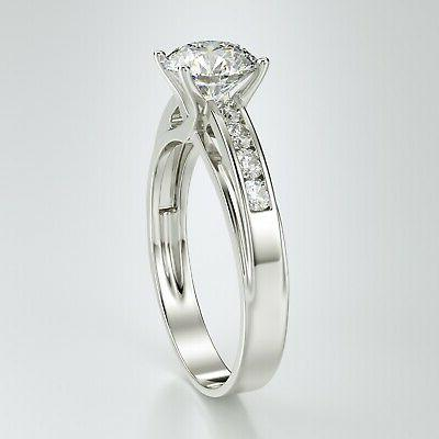 Solid Solitaire Engagement 1.00 Ct.