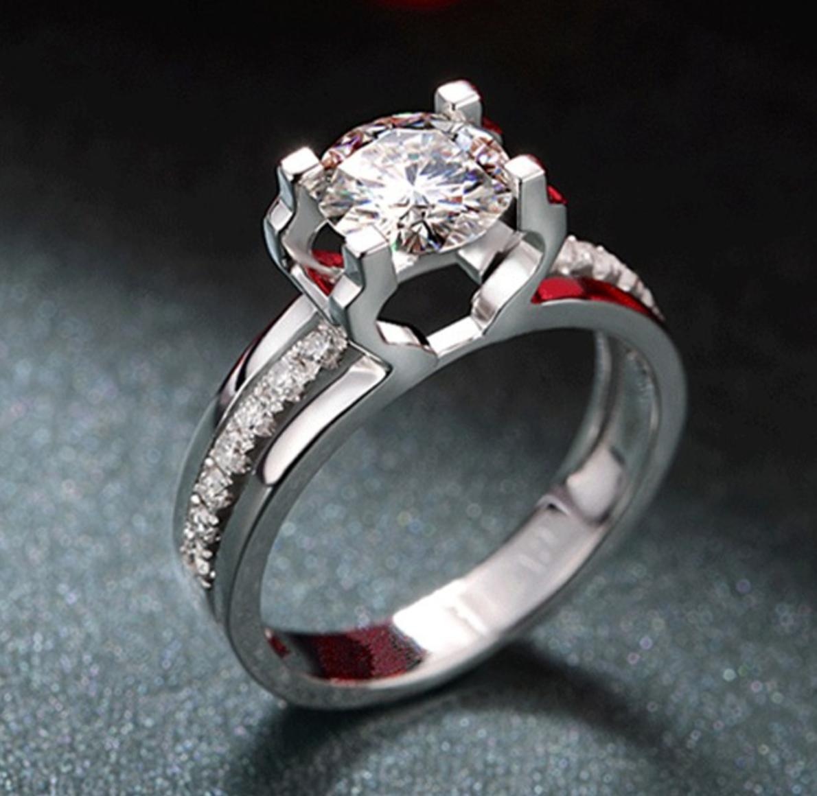 Womens 1.50 Engagement Promise CUT Plated 6-9