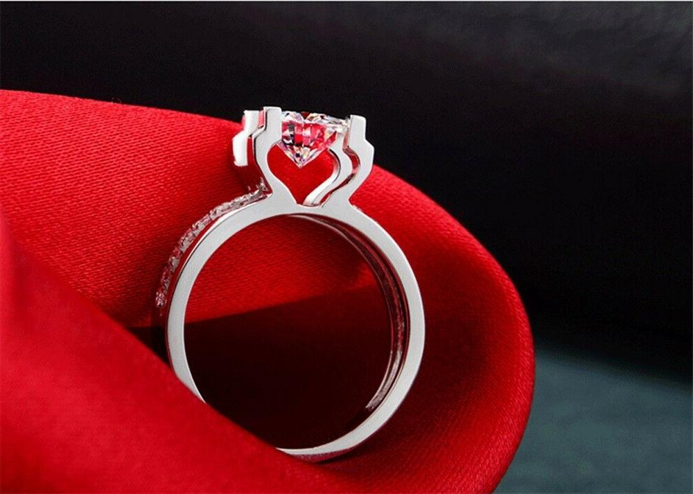 Engagement Promise RING CUT Silver SIZE 6-9