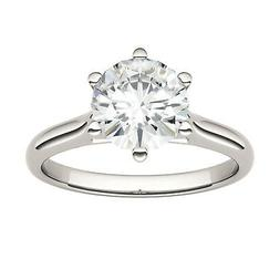 Moissanite by Charles & Colvard 7.5mm Round Solitaire Engage