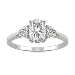 Moissanite by Charles & Colvard 7x5mm Oval Engagement Ring,
