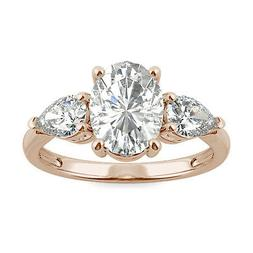 Moissanite by Charles & Colvard 9x7mm Oval Engagement Ring-s