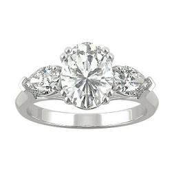 Moissanite by Charles & Colvard 9x7mm Oval Engagement Ring,