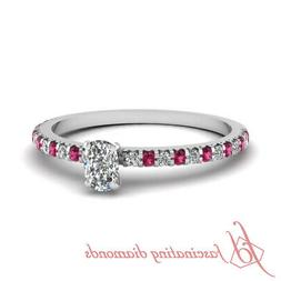 Platinum Cushion Cut Diamond Rings For Women Engagement With