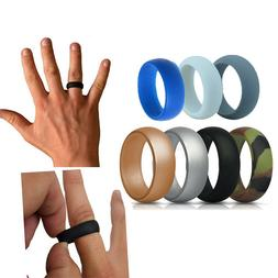 Silicone Wedding Engagement Ring Men Women Rubber Band Gym S