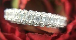 Size 6 - Women's Fashion Silver Eternity Band Engagement Rin