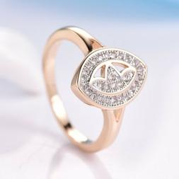 Smart Chic Lady White Cubic Zirconia Multi-Tone Gold Plated