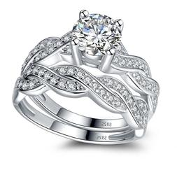 Solid Sterling Silver Infinity Women's Wedding Engagement Br