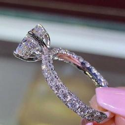 Sparkling 14K Gold Filled Cubic Zirconia Wedding Band Engage