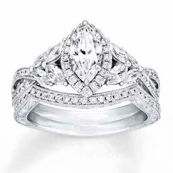 Sterling Silver .925 CZ Marquise Engagement Ring Wedding Ban