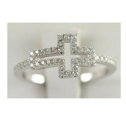 Sterling Silver 925 Ladys Engagement Ring Womens Wedding Ban