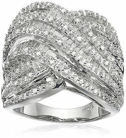 sterling silver diamond ring 1 cttw i