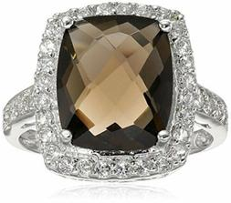 Amazon Collection Sterling Silver Smoky Quartz Size 6 Ring