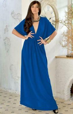 Koh Koh Sundress Vacation Maxi Dress Gown NWT FREE S&H