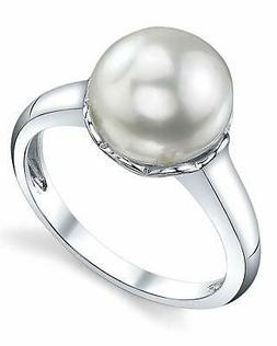THE PEARL SOURCE 11-12mm Genuine White Freshwater Cultured P