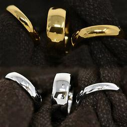 Tungsten Carbide 18k Gold Dome Engagement Wedding Band Mens