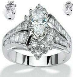 wedding Women  stainless rings engagement for Lady's AAA rin
