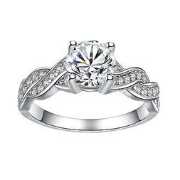 Women's Sterling Silver Cubic Zirconia 1.28 Ct Infinity Prom
